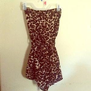 Cheetah Print Sleeveless Romper NWOT